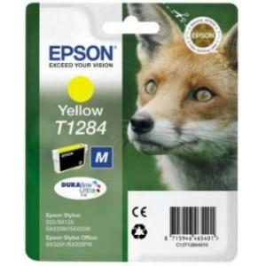 Epson oryginalny Tusz T1284 Yellow do SX125/SX130/SX425W/SX430