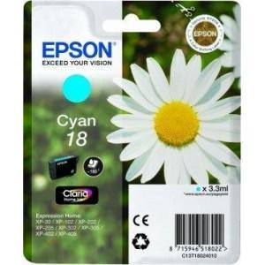 Epson oryginalny Tusz T1802 cyjan 3.3ml do XP-30/102/20x/30x/40x
