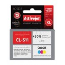 Tusz zamiennik Activejet AC-511R (Canon CL-511) premium XL 12ml kolorowy